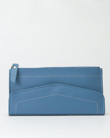 Utopia Zip Through Envelope Purse Blue