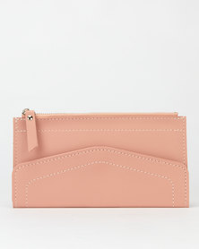 Utopia Zip Through Envelope Purse Pink