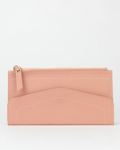 Utopia Zip Through Envelope Purse Pink