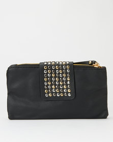 Utopia Studded Strap Purse Black