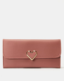 Utopia Heart Clip Purse Dusty Pink