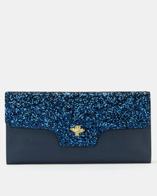Utopia Glitter Purse Royal Blue