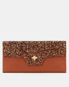 Utopia Glitter Purse Royal Brown