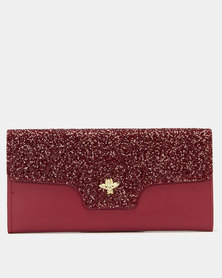 Utopia Glitter Purse Royal Red