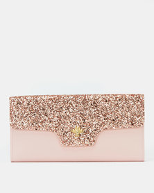 Utopia Glitter Purse Royal Pink