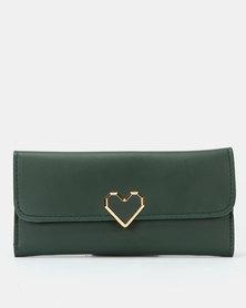 Utopia Heart Clip Purse Green