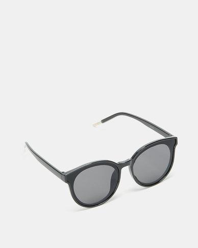 Utopia Round Frame Sunglasses Black