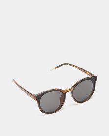 Utopia Round Frame Sunglasses Tortoise Shell