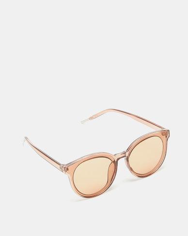 Utopia Round Frame Sunglasses Brown
