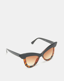 Dramatic Eye Sunglasses Tortoise Shell