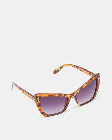 Utopia Cat Eye Sunglasses Tortoise Shell with Charcoal Lense