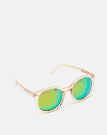 Utopia Big Round Framed Sunglasses Light Pink