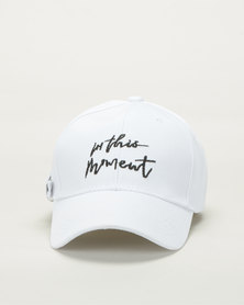 Utopia In The Moment Peak Cap White/Black
