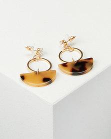 All Heart Half Circle Drop Earrings Totroise
