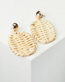 All Heart Woven Drop Earrings Neutral
