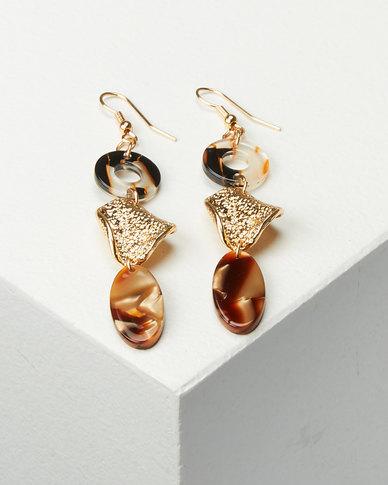 All Heart Abstract Drop Multi Earrings Multi