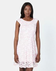 Revenge Butterfly Design Dress Pink