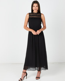 Revenge Sleeveless Maxi Dress Black