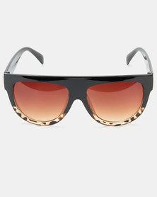All Heart  Flat Brow Tortoise Sunglasses Brown