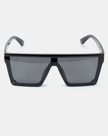 All Heart  Flat Brow Sunglasses Black