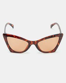 All Heart  Cat Eye Tortoise Sunglasses Brown