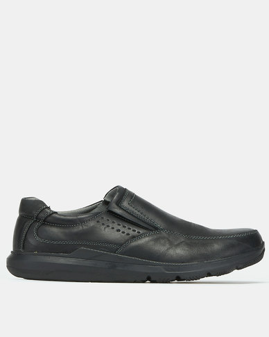 Step On Airs Norman Casual Slip Ons Black