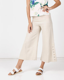 Paige Smith  Linen Pants Natural