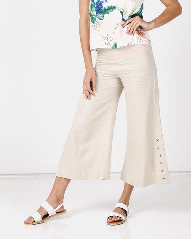 Paige Smith  Linen Pants Natural