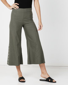 Paige Smith Linen Pants Khaki