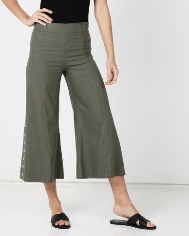 Paige Smith Linen Pants Khaki