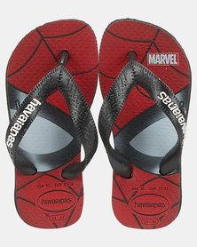 Havaianas Kids Top Marvel Spiderman Sandals Black