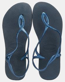 Havaianas Luna Sandals Navy-Blue