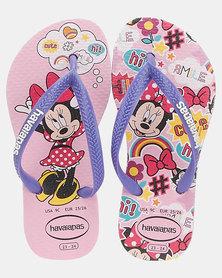 Havaianas Kids Slim Disney Cool Flip Flops Rose Quartz