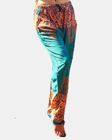 SKA Mandala Prints Pants Blue and Orange