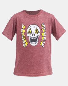 Volcom Boys Stone Eyes T-Shirt Pumice Melange