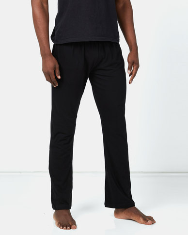 Brave Soul Loungewear Pants with Elasticated Waistband Black/Yellow