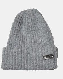 SKA Woollen Short Beanie Grey
