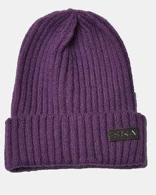 SKA Woollen Short Beanie Purple
