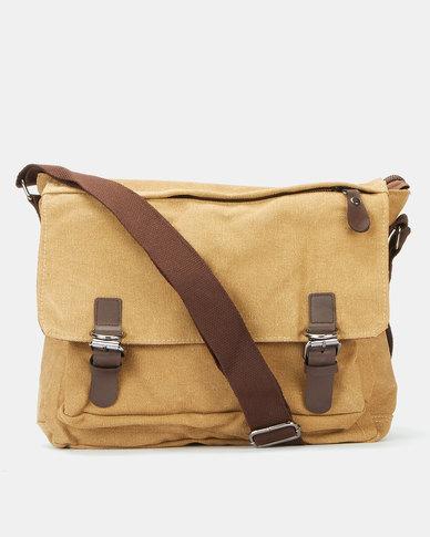 Joy Collectables Canvas Messanger Bag Tan