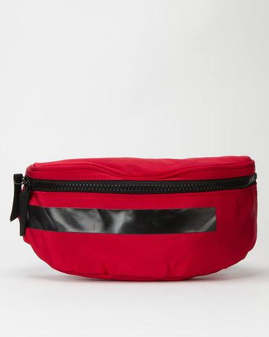 Joy Collectables Bulky Zip Fashion Waistbag Red