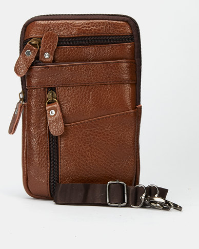 Joy Collectables Leather Travel Bag Tan