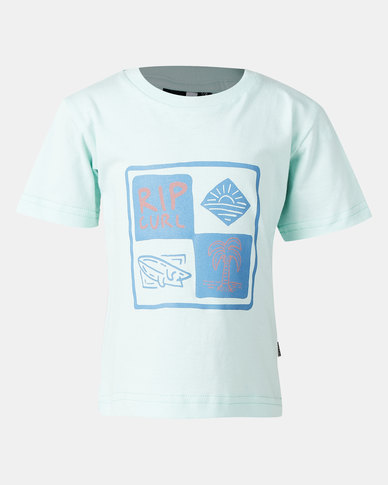 Rip Curl Boys All The Vibes Tee Blue
