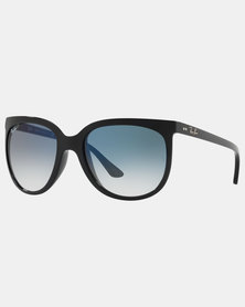 Ray-Ban Cats 1000 Clear Gradient Blue Sunglasses Black
