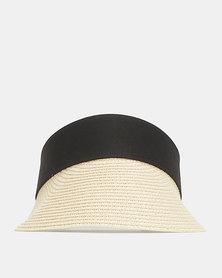 Black Lemon Visor Hat Natural
