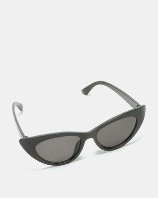 Black Lemon Cat Eye Sunglasses Black