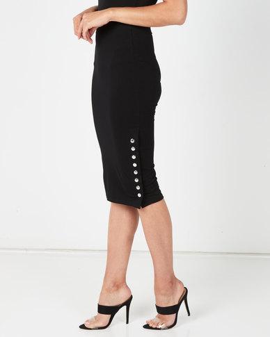 Sissy Boy Logo Skirt With Press Studs Black