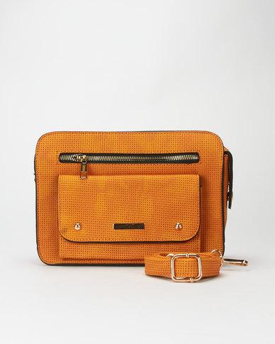 Utopia Crossbody Front Pocket Bag Mustard