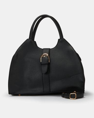 Utopia Front Buckle Handbag Black