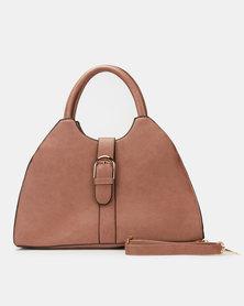 Utopia Front Buckle Handbag Mink