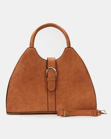 Utopia Front Buckle Handbag Camel